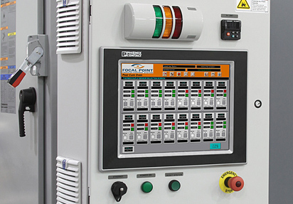 Focal Pont Process Controller for composite curing system