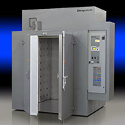 TAD Industrial walk-in oven used for numerous applications including composites, heat treating, powder coating, etc.